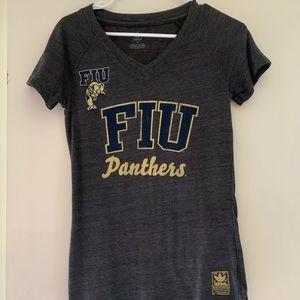 FIU v neck athletic t-shirt